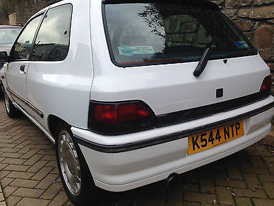 renault clio 1 8 16v white 1993 k phase 1 valver not williams clio sport. Black Bedroom Furniture Sets. Home Design Ideas